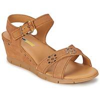 Chaussures Femme Sandales et Nu-pieds Manas SAMANA Camel