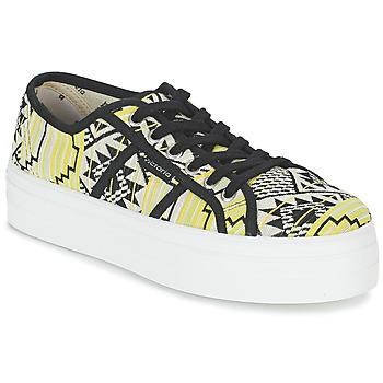 Chaussures Air max tnFemme Baskets basses Victoria BASKET ETNICO PLATAFORMA Noir / Jaune