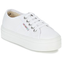 Chaussures Fille Baskets basses Victoria BASKET LONA PLATAFORMA KIDS Blanc