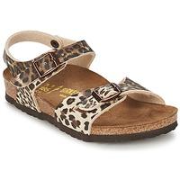 Chaussures Fille Sandales et Nu-pieds Birkenstock RIO Leopard / Marron