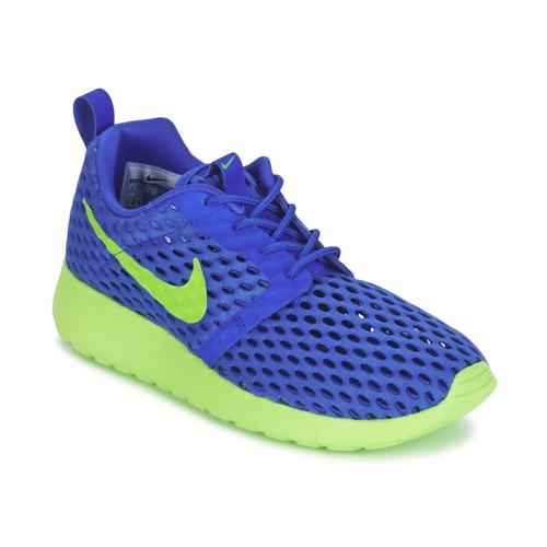 Chaussures Garçon Baskets basses Nike ROSHE ONE FLIGHT WEIGHT BREATHE JUNIOR Bleu / Vert