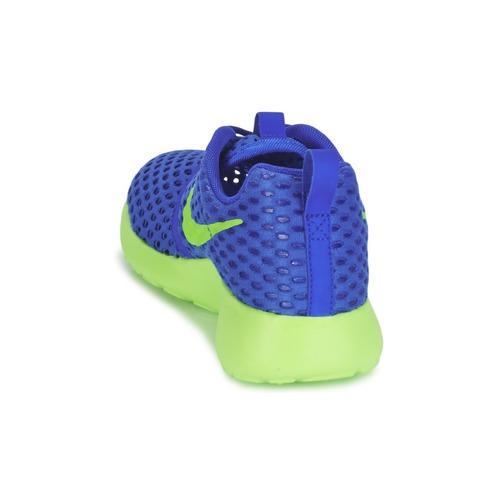 Nike ROSHE ONE FLIGHT WEIGHT BREATHE JUNIOR Bleu / Vert