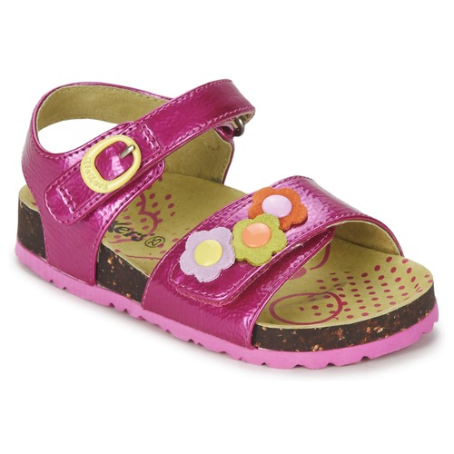 Chaussures Fille Sandales et Nu-pieds Kickers MAGIFLOWER Fuchsia