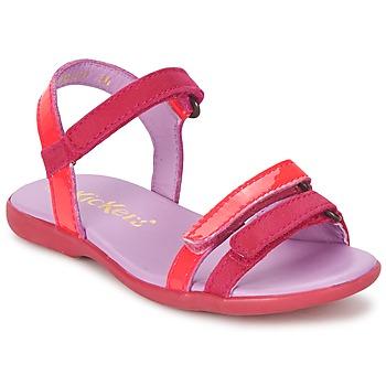 Chaussures Air max tnFille Sandales et Nu-pieds Kickers ARCENCIEL Fuchsia / Rose / Fluo