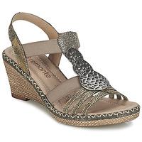 Chaussures Femme Sandales et Nu-pieds Remonte Dorndorf TINACE Doré / Argent