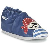Chaussures Garçon Chaussons bébés Robeez JOLLY PEG Bleu