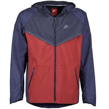 Vêtements Homme Coupes vent Nike TECH WINDRUNNER Rouge / Marine / Gris