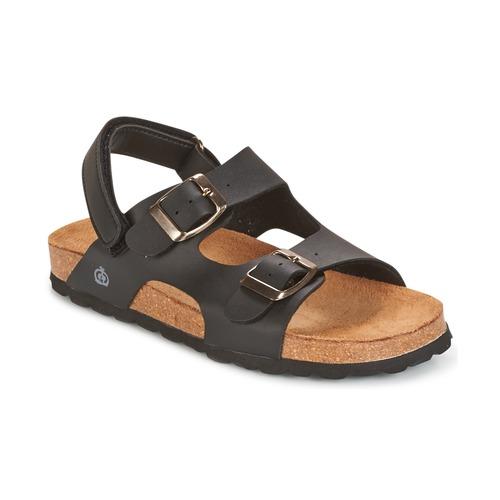 Chaussures Garçon Sandales et Nu-pieds Citrouille et Compagnie KELATU Noir / Mate