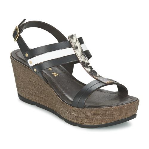 Sandale CAFé NOIR femme blanc Chaussure pas cher avec