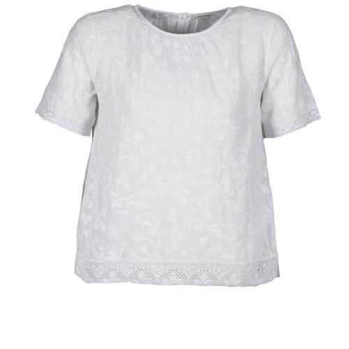 Vêtements Femme T-shirts manches courtes Manoush COTONNADE SMOCKEE Blanc