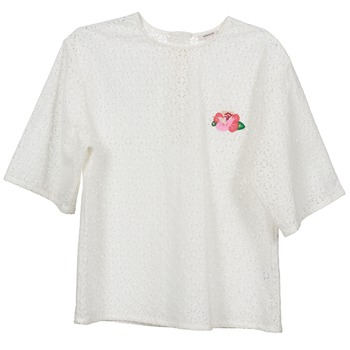 Vêtements Femme Tops / Blouses Manoush FLOWER BADGE Blanc