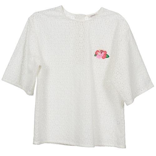 Vêtements Femme Tops / Blouses Manoush FLOWER BADGE Blanc