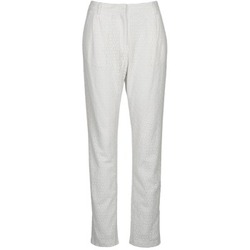 Vêtements Femme Pantalons 5 poches Manoush FLOWER BADGE Blanc