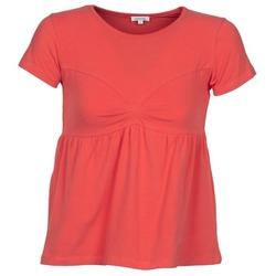 Vêtements Femme T-shirts manches courtes Manoush MOLLETON Corail