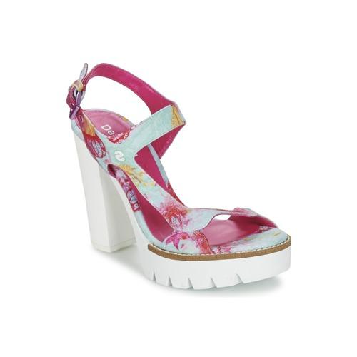 Chaussures Femme Sandales et Nu-pieds Desigual VENICE Turquoise / Rose