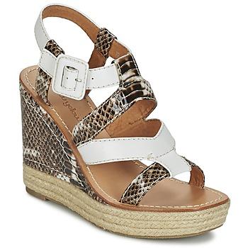 Chaussures Femme Sandales et Nu-pieds Mellow Yellow VANAIS Blanc / Marron