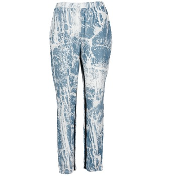 Pantalons fluides Vila GRUNGE ME Bleu / Blanc