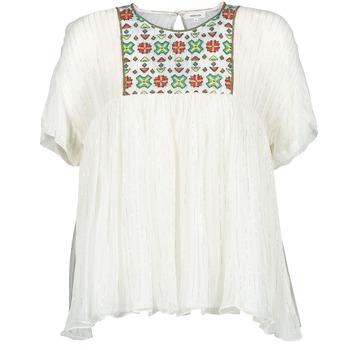 Vêtements Femme Tops / Blouses Manoush POINT DE CROIX Ecru
