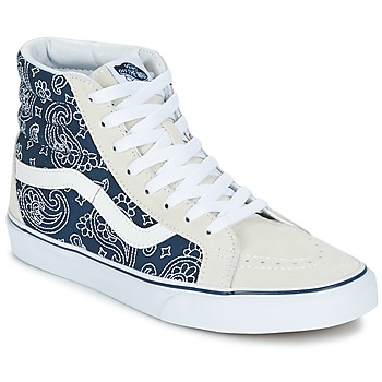 Chaussures Baskets montantes Vans SK8-HI REISSUE Bandana bleu /Blanc