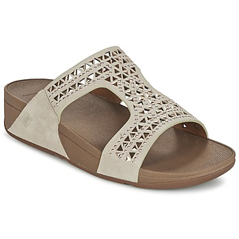 Chaussures Femme Mules FitFlop CARMEL SLIDE Beige
