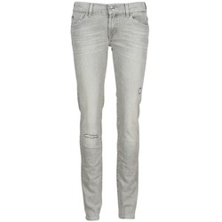 Vêtements Femme Jeans slim 7 for all Mankind ROXANNE DESTROYED Gris