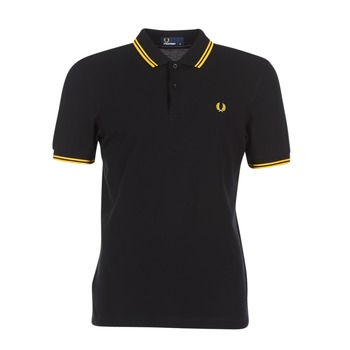 Fred Perry TWIN TIPPED SHIRT Noir / Jaune
