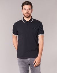 Vêtements Homme Polos manches courtes Fred Perry TWIN TIPPED FRED PERRY SHIRT Noir / Blanc
