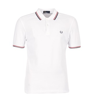 Vêtements Homme Polos manches courtes Fred Perry THE FRED PERRY SHIRT Blanc / Rouge