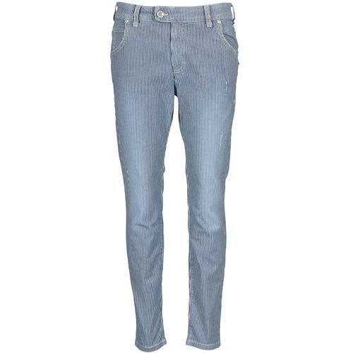 Vêtements Femme Jeans droit Marc O'Polo LAUREL Bleu / Blanc