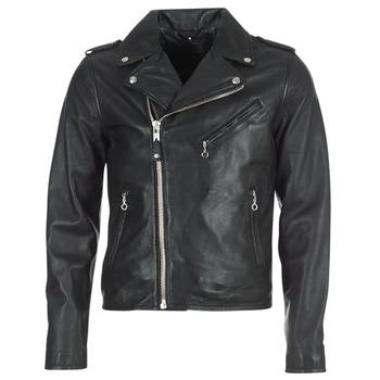 Vêtements Homme Vestes en cuir / synthétiques Schott LEVOQ Noir