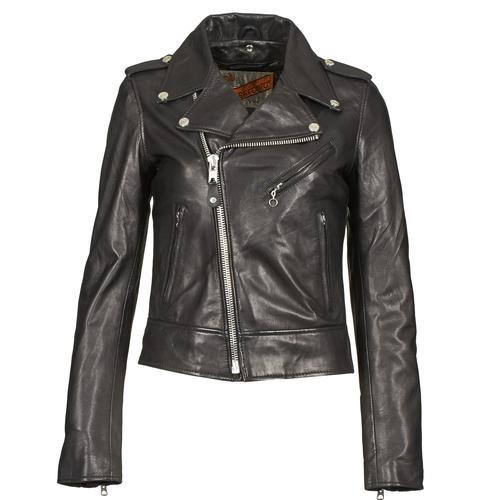 Vêtements Femme Vestes en cuir / synthétiques Schott SIMOUDE Noir