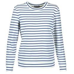 Vêtements Femme Sweats Petit Bateau BEAM Blanc / Marine