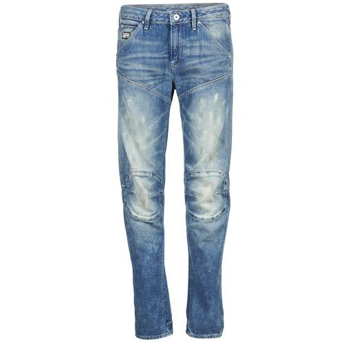 Vêtements Femme Jeans droit G-Star Raw 5620 3D LOW BOYFRIEND WMN Medium Aged Painted Scatter Denim