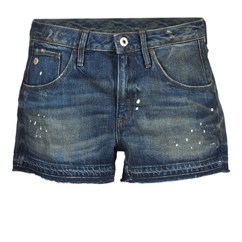 Vêtements Femme Shorts / Bermudas G-Star Raw ARC BF RIPPED SHORT WMN Bleu Foncé