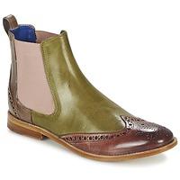 Chaussures Femme Boots Melvin & Hamilton AMÉLIE 5 Vert / Rose / Beige