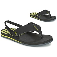 Chaussures Enfant Tongs Rip Curl THE ONE GROMS Noir / Jaune