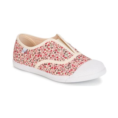 Chaussures Fille Baskets basses Citrouille et Compagnie RIVIALELLE Ecru / Multicolore