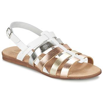 Chaussures Air max tnFille Sandales et Nu-pieds Citrouille et Compagnie PEQUEBELLO Blanc / Or