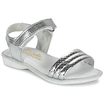 Chaussures Fille Sandales et Nu-pieds Citrouille et Compagnie GOSAGOLA Argent