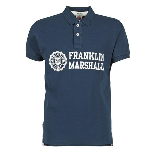 Vêtements Homme Polos manches courtes Franklin & Marshall AYLEN Marine