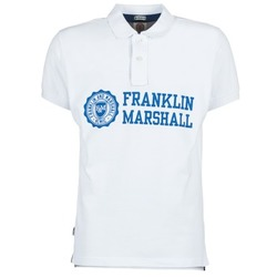 Vêtements Homme Polos manches courtes Franklin & Marshall AYLEN Blanc
