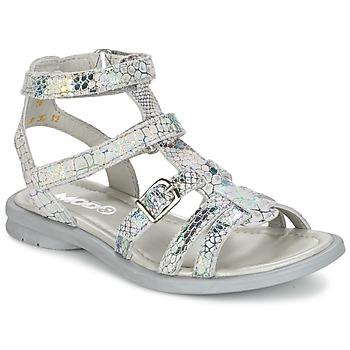 Chaussures Fille Sandales et Nu-pieds Mod'8 JUJU Argent