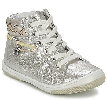 Chaussures Fille Baskets montantes Catimini CALLUNA Beige / Argent