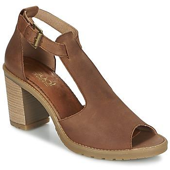 Chaussures Femme Sandales et Nu-pieds Casual Attitude GUIGNET Camel