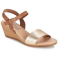 Chaussures Air max tnFemme Sandales et Nu-pieds Casual Attitude GOLETTE Camel / Or