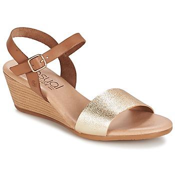 Chaussures Femme Sandales et Nu-pieds Casual Attitude GOLETTE Camel / Or