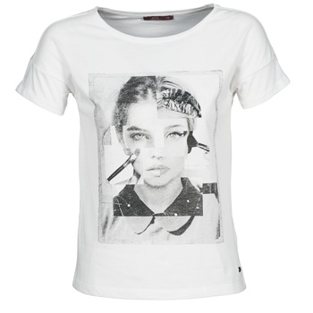 Vêtements Femme T-shirts manches courtes Esprit NEW PRINT SHIRT Blanc