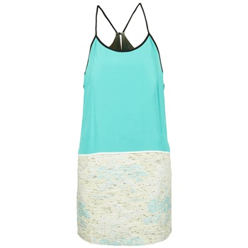 Vêtements Femme Robes courtes See U Soon ELEMAILLE Bleu / Blanc