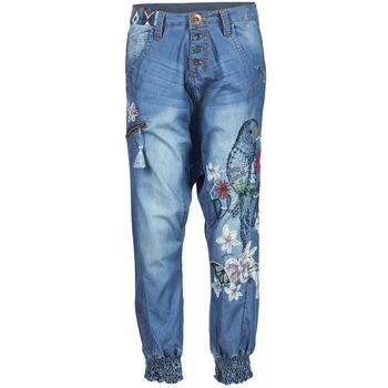 Pantalons fluides Desigual ANIATINE Bleu medium