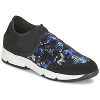 Chaussures Air max tnFemme Slips on Meline LEO Noir / Bleu